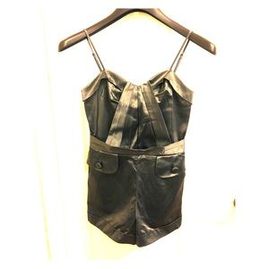 GUESS Charcoal Gray Romper with Pockets